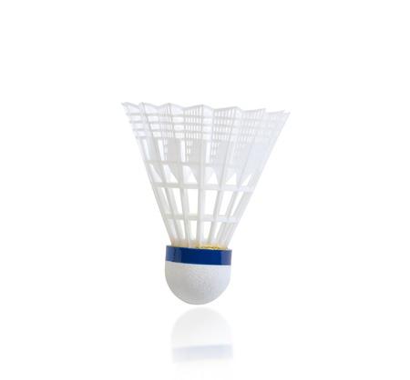 sporting goods: Shuttlecock badminton Sporting goods ball isolated on white