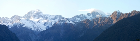 Nice panoramic view in autumn at mount Cook national park  photo
