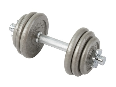 kilos: Smart your muscle with arm dumbbell  Stock Photo