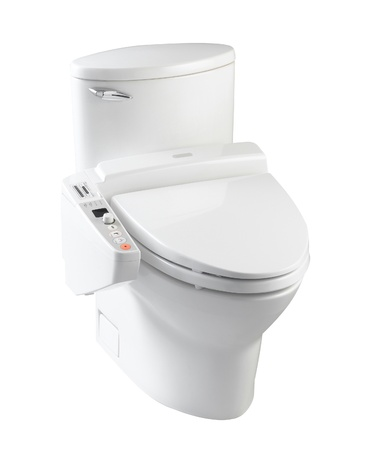 High technology of hygienic toilet bowl for your modern bathroom with all automatic function Stock Photo - 18208219