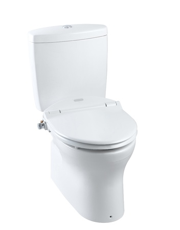 New design hygienic and useful toilet bowl a master piece of fine art  photo