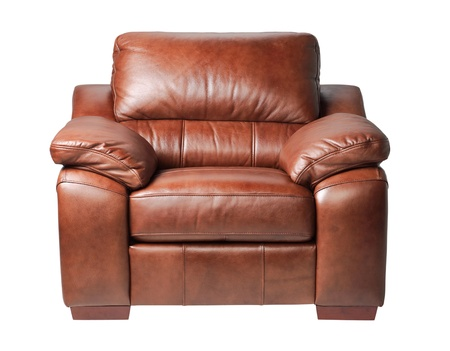 Nice and luxury leather armchair fit your living room isolated Stock Photo - 18208542