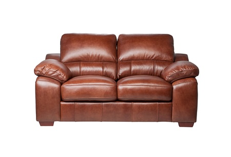 Nice and luxury leather sofa for your living room isolated on white Stock Photo - 18208451