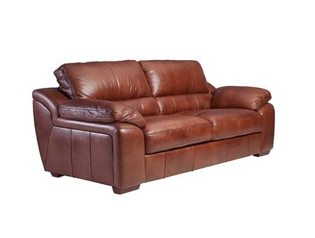 Nice comfortable and luxury leather sofa isolated Stock Photo - 18208450