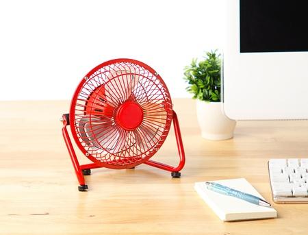 color fan: small electric fan