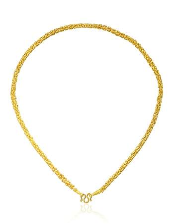Golden necklace pendant with heart shape Stock Photo - 18308071
