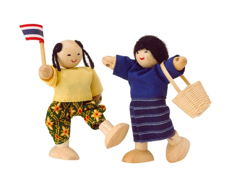 Thai dressing style doll kids photo