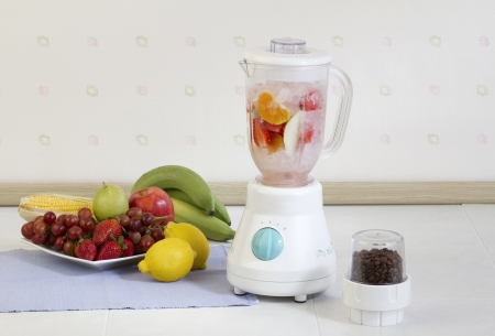 Multiple purpose fruits blender machine in the kitchen  Stock Photo - 19312713
