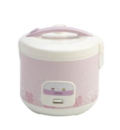 rice cooker: Electric rice cooker pot isolated on white background  Stock Photo