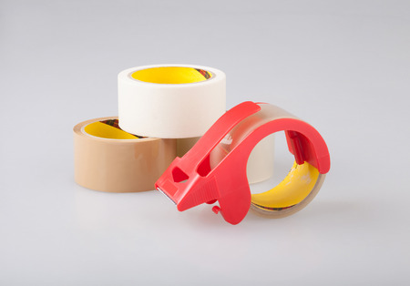 sealing tape: Adhesive tapes and holder dispenser best for wrapping box or others, the image isolated