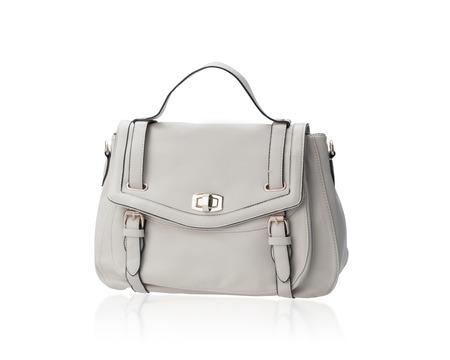 Beautiful woman fashion handbag isolated on white background