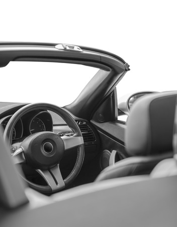 Interior of the convertible car isolated on white background  photo
