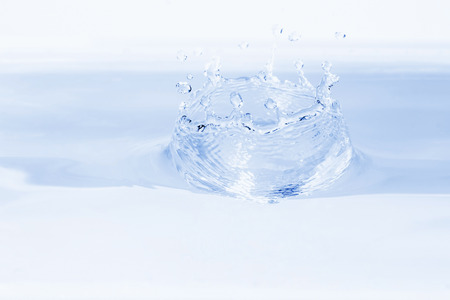 slash: Water dropping isolated on clear background