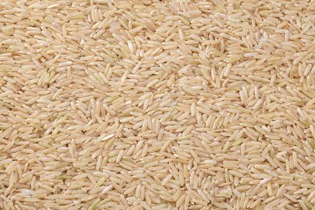 non  toxic: Thai organic brown rice spread as a background