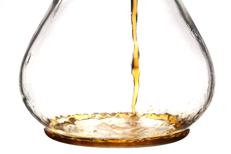 Coffee pouring into a glass coffee maker Stock fotó - 29691764