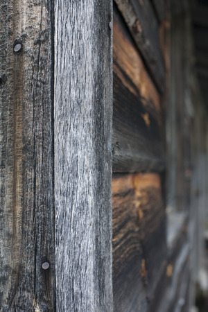 The edge of an old wooden building.