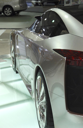 lfa: The Toyota Lexus LF-A concept sports coupe, Toyota Motor Corporation Showcase, Daiba Beach, Tokyo Japan Editorial