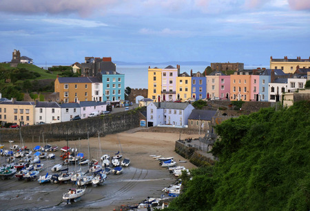 tenby wales: Tenby Harbour Pembrokeshire West Wales United Kingdom Editorial