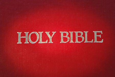 highlight: The cover of the Holy Bible is highlight  Stock Photo