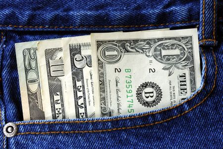 American money is in the pocket of blue jeans Stock Photo - 6752107