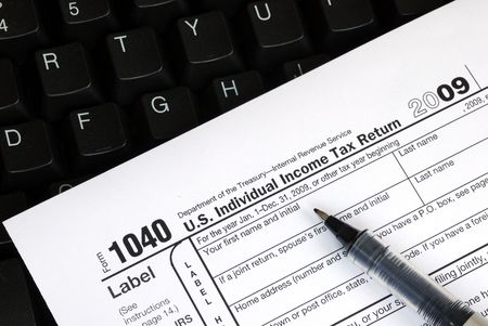 Filing the income tax return online is easy Stock Photo