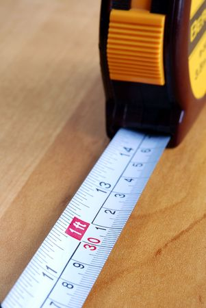 Close up view of a measuring tape photo