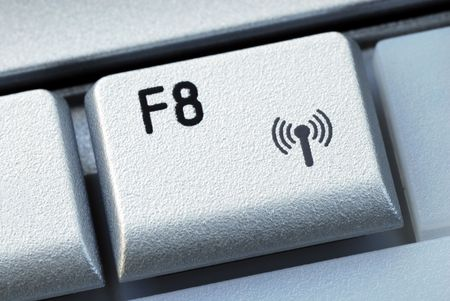 function key: The F8 function key is also the wireless connection key