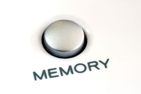 Close up view of the memory button also concept of memory problem