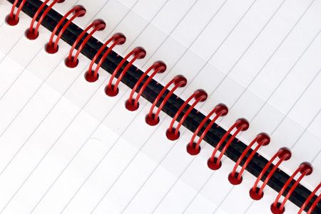 A fragment of the spiral note pad  Stock Photo - 6752521