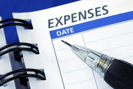 Lijst van de uitgaven voor het plannen van een maandelijkse begroting