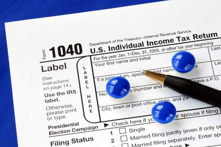 Stress and headache in filing the income tax return photo