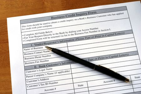 Make the business credit inquiry from the bank