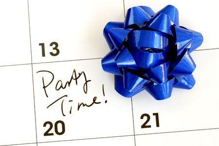 Mark the Party Time on the calendar Stock Photo - 6752154