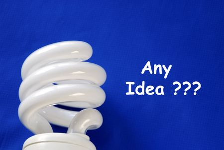 Get any idea isolated on blue background Stock Photo - 6752288