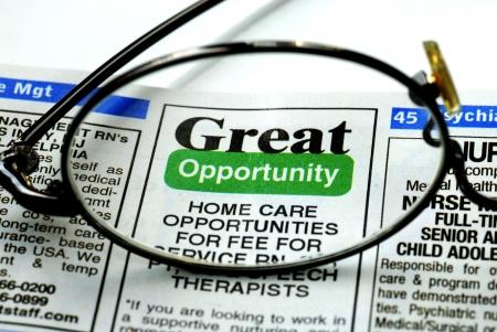 Concentreren op de grote kans in het zoeken naar een baan Stockfoto