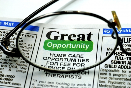 Focus on the great opportunity in job searching photo