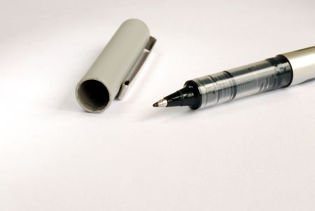 A writing pen on the upper part of the picture Stock Photo - 7001787