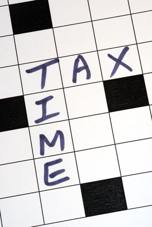 The tax time for the income tax return photo