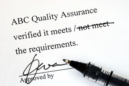 product design specification: Sign off the quality control document from a makeup institution