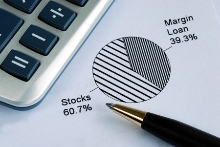 Portfolio allocation illustrates the asset in a pie chart Stock Photo - 7235636