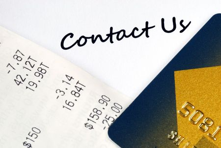 Contact the customer service for online business or credit card related issues Stock Photo - 7235635