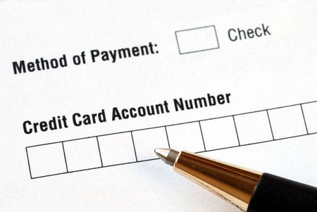 Fill in the credit card information in an order form Stock Photo - 7235642
