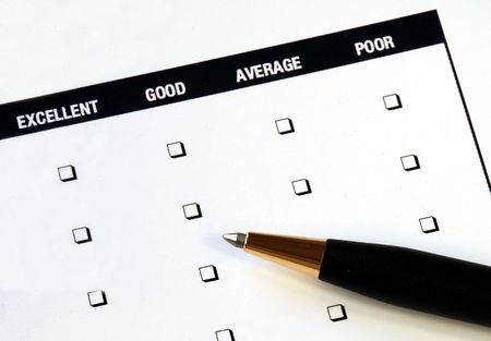 Fill in the customer satisfaction survey Stock Photo - 7235629