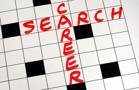 Write the words Career Search on a crossword puzzleWrite the words Career Search on a crossword puzzle