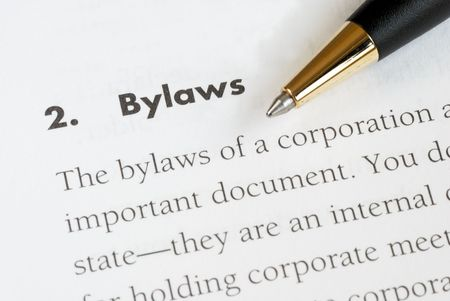 corporation: Definition of the bylaws of a corporation