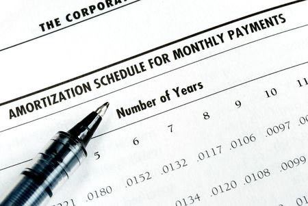 Calculate the loan payment by checking the amortization table