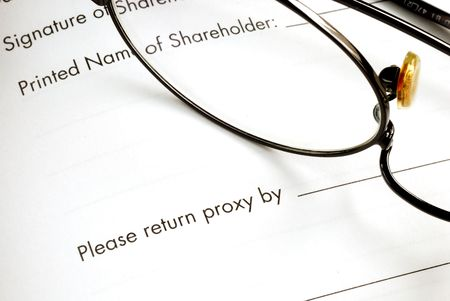 Return the proxy of a business meeting