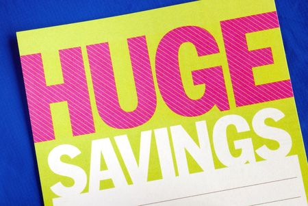 Look for huge savings ideas in spending money Stock Photo - 7277113