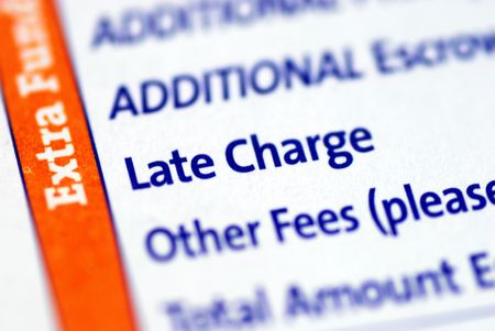 Focus on the Late Charge item in a mortgage payment coupon