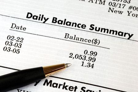 bankkonto: �berpr�fen Sie sorgf�ltig den monatlichen Kontoauszug Lizenzfreie Bilder